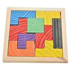 Wooden Tangram Brain Teaser Puzzle Tetris Game  Educational Baby Child Toy