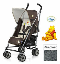 New Hauck Disney Winnie the Pooh doodle brown pushchair buggy pram+raincover