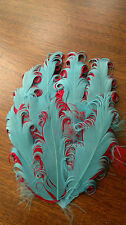 Curly Goose Feather Pad for Headbands Costumes Hat Crafts 13 x 10 cm