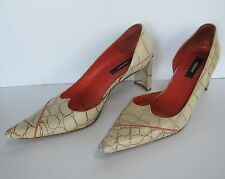 DKNY Women Leather Made in Spain Shoes Pumps Size 8M, Sand