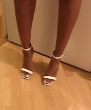 White Square Toe Barley There Asos Heels Size 5.5