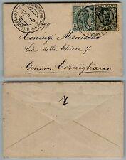 REGNO-5c(81)+25c(200)-Letterina TAGLIOLO BELFORTE- Genova 2.8.1929