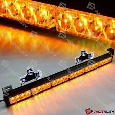 "25"" 24 LED Amber Light Emergency Warning Strobe Flashing Yellow Bar Hazard Dash"