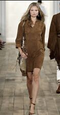 Ralph Lauren Collection Women's Suede Shirt  Dress Spring Runway 2011- Size 8
