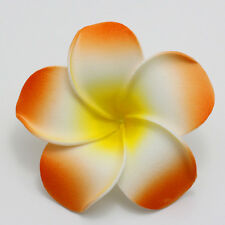 2 piecs Hot Sale Orange Foam Floating Frangipani/Plumeria/Hawaiian Flower Head