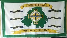 northern ireland flag 5x3 world  cup football red hand ulster loyalist loyal OWC