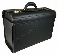 New Business Black Executive Laptop Travel Work Flight Pilot Bag Case Briefcase