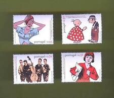 SET STAMPS 2004 PORTUGAL COMICS MUSIQUE JAZZ MUSIC Bande Dessinée Portugaise z1
