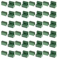 20 pieces 4Pin Plug-in Screw Terminal Block Straight Connector 5.08mm Pitch