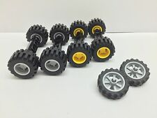 LEGO - 3 Sets Of Brand New Wheels - Yellow & Grey - Motor Bike / Job Lot