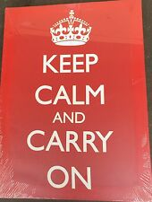 "Keep calm and Carry On,  13"" x 18"" Canvas on Wooden Frame"