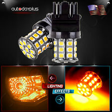 2X 3157 yellow Back Up Reverse,stop turn signal+33SMD Chip LED Lights Bulbs