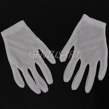 12 PAIR WHITE INSPECTION COTTON LISLE WORK GLOVES COIN JEWELRY LIGHTWEIGHT L