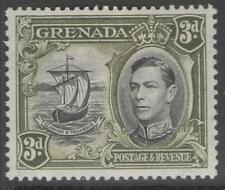 GRENADA SG158a 1938 3d BLACK & OLIVE-GREEN p13½x12½ MTD MINT