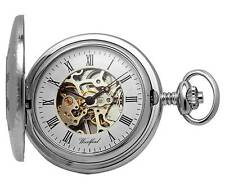 Woodford Chrome Plated Mechanical Demi Hunter Pocket Watch. ref 1082