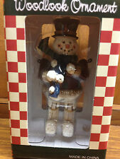 """Woodlook Ornament Snowman Jointed Figurine 5"""" Tall Christmas NEW in Box"""