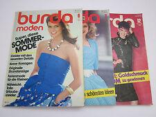 burda konvolut alte modezeitschrift 3 Stück vintage 1982 juni juli dezember