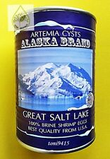 Brine Shrimp Egg Artemia Cysts ALASKA Brand Quality USA FREE!! 2 Micro Spoon