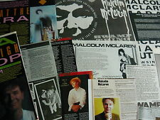 MALCOLM MCLAREN - MAGAZINE CUTTINGS COLLECTION (REF AA1)