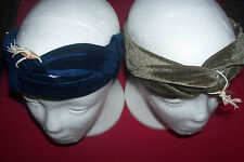 NEW LOT NATURAL LIFE VELVET TURBAN TWISTED HEADBANDS BOHEMIAN HIPPIE HAIR STYLES