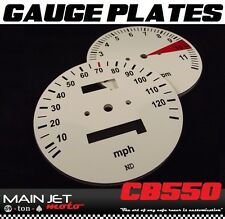 Honda CB550 CB550f CB500t CB Cafe Racer Gauge Face Plates Decal Overlay Applique