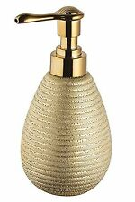 Bisk Soap Dispenser STONEWARE GOLD 8.5x9x17cm NUOVO