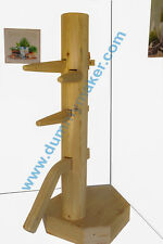 Wing Chun Wooden Dummy Closed Base Corner Natural Color