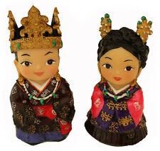 Figurines, coréen king & queen peint à la main