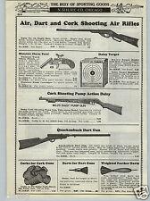 1937 PAPER AD Quackenbush Dart Gun Daisy Pump Action Cork Rifle #25
