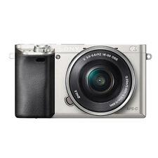 Sony Alpha ILCE-6000L 24,3 MP Digitalkamera - Silber (Kit mit OSS 16-50mm...