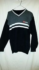TRUE  VINTAGE DIESEL WOOLY TYPE JUMPER 44 CHEST BLACK/GREY/WHITE