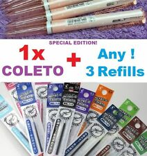 Tri Color Coleto Pen+3 Refills PILOT HI-TEC-C Japan Cute Gift 0.3mm 0.4mm 0.5mm