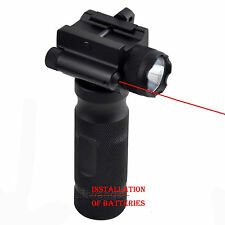 Combo Vertical Foregrip CREE LED Tactical Flashlight Red Laser Sight For Rifle