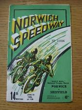 19/06/1948 Speedway Programme: Norwich v Sheffield [Daily Mail National Trophy M
