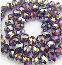 NEW Jewelry Faceted 30pcs Violet AB  #5040 6x8mm Roundelle Crystal Beads DIY ^%3
