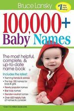 100,000 + BABY NAMES:The Most Complete Baby Name Book by Lansky, Bruce