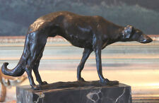 Borzoi Russian Wolfhound Bronze Marble Statue Dog Bookend Sculpture Artwork Gift