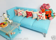 Lot 6 PCS Mix Flower Pillow For Sofa Couch Bed 1/12 Dollhouse Miniature Ooak