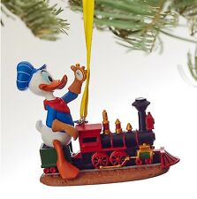 "Donald Duck ""Out of Scale"" Train Conductor Disney Sketchbook Ornament Christmas"