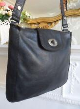 Fossil Marlow Black Leather Medium Shoulder Crossbody Bag