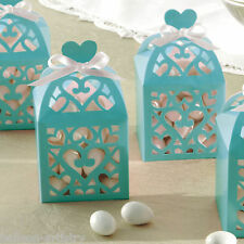 50 Elegant Robin Egg Blue Lantern Wedding Engagement Party Gift Favour Boxes