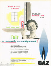 PUBLICITE ADVERTISING 085  1956  le radiateur  GAZ DE VILLE
