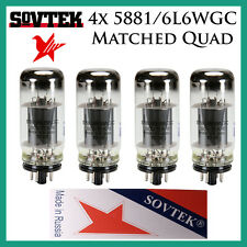 New 4x Sovtek 5881 / 6L6WGC / 6L6 | Matched Quad / Quartet / Four | Power Tubes