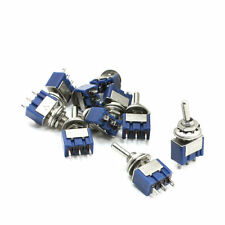 10pcs Latching 12v Mini Toggle Switch SPDT On/Off/On 6A/125V Car Dash Board