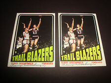 Terry Dischinger 1972-73 Topps #143 Trail Blazers Purdue Signed Autograph N13
