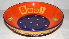 "DEBBIE MUMM Halloween 9"" Candy Bowl BOO!  Ghostly Fun! NEW Orange Purple Green"