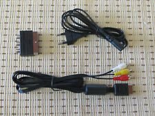 Stromkabel + TV/AV Chinch Kabel + Scart Adapter für Playstation PS1 PS2 PS3 NEU