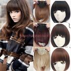 AU Lady Bang Hair Clip on Short Front Bangs Fringe Clip in Hair Extensions Real
