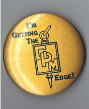 "CPM College Prep Math Education 2.25"" Advertising Pinback Button School Get Edge"