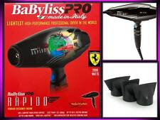 BABYLISS PRO RAPIDO FERRARI ENGINE 2000 WATT LIGHTEST HAIR BLOW DRYER # BABF7000